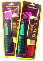 Расчёски для волос набор 6шт., цветные