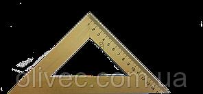 Трикутник дерев'яний 45 градусів 15 см