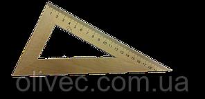 Трикутник дерев'яний 30 градусів 21 см
