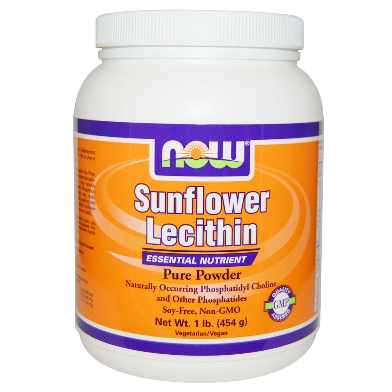 Now Foods, Подсолнечный лецитин, чистый порошок (454 г)