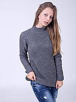 Классическая серая туника модной вязки, фото 1
