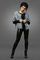 Женская куртка-болеро из натуральной кожи
