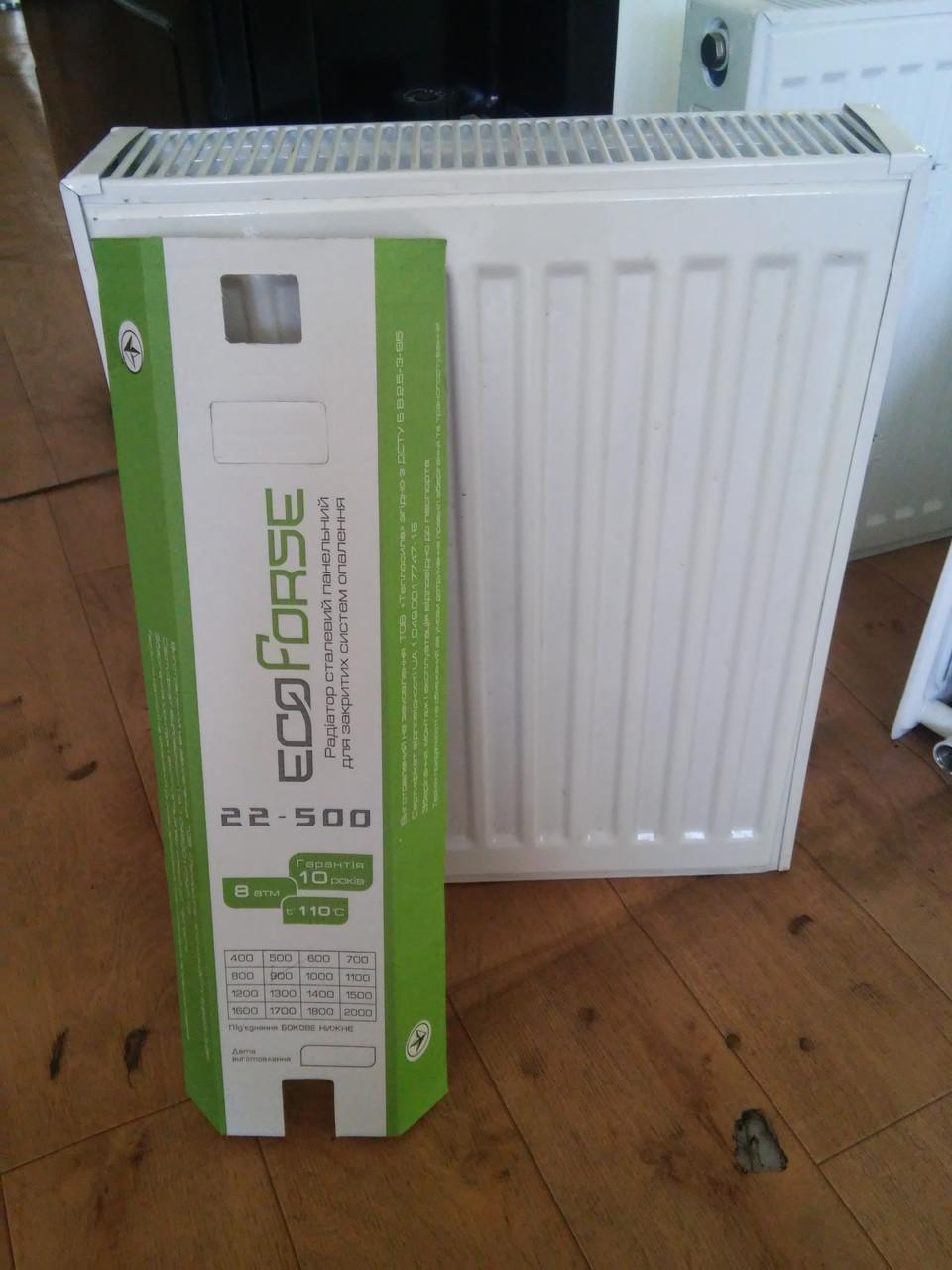 Стальные радиаторы EcoForse  500*800 (Екофорс) 22 типа
