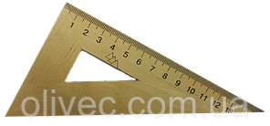 Трикутник дерев'яний 30 градусів 15 см
