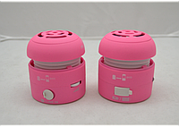 Портативная проводная колонка MyVibe SH-4 pink, компактная mp3 колонка, музыкальная колонка