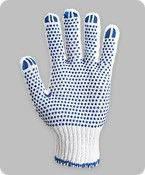 Перчатки х/б с синей точкой