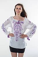 Блуза жіноча Трави льон, фото 1