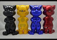 Портативная колонка Говорящий кот SD-555, игрушечный MP3 плеер с функцией повторения речи, колонка для ребенка
