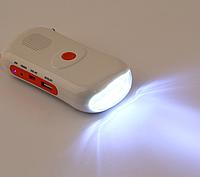 Портативное солнечное зарядное с Радио FM 6 светодиодных фонарика