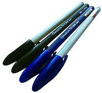 """Ручки шариковые """"Radius"""" Tri Line  (50шт/уп) синие в тонированном корпусе"""