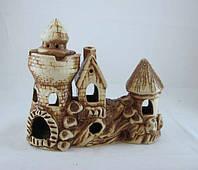 Кераміка для акваріума Замок-дім на скелі, 23х20 див., фото 1
