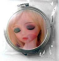 Зеркало двухстороннее карманное, круглое, Китай