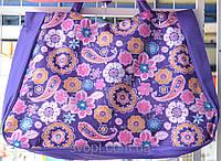 Сумка пляжная 60x50 см фиолетовая