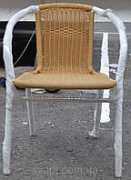Кресло металлическое плетенное