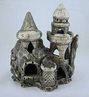 Керамика для аквариума Замок-башня, 16х20 см., фото 1