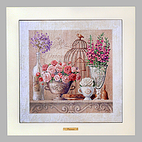 Картинка Прованс New Троянда 20*20 (бел. рамка)
