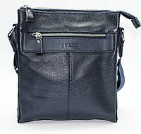 Мужская сумка из натуральной кожи синяя