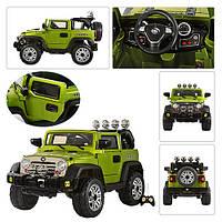 Детский электромобиль джип JJ 235 EBR-5,колеса EVA, зелёный***