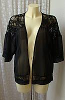 Блузка черная нарядная кружево Esmara р.44 6977