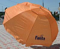 Пляжный зонт DJV /N-62 «шапочка»: 8 спиц, диаметр 3 м, ножка из 2-х частей, чехол