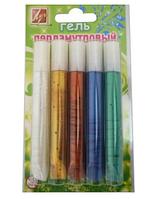 Набор Гель с блестками Перламутровый 5цв.х10мл, туба, Луч