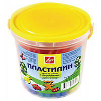 Пластилин Луч в ведре с форм. 11 цв. 220г. 12С784-08