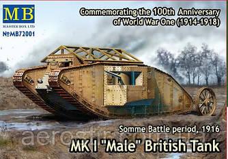 Танк Mk.I 'Male' 1/72 Master Box 72001