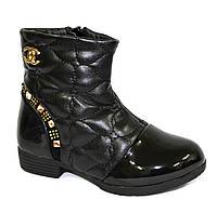 Ботинки демисезонные для девочки, черный цвет. Размер: 27-32