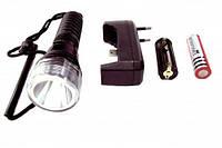 Подводный фонарь для дайвинга Police A-3: 180 Лм, водонепроницаемый, кассета, аккумулятор, ЗУ
