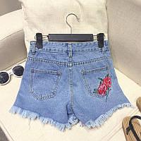 Джинсовые шорты с вышивкой на заднем кармане, фото 1