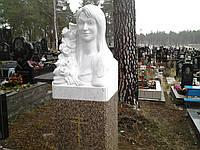 Скульптура бюст женщины из мрамора № 74
