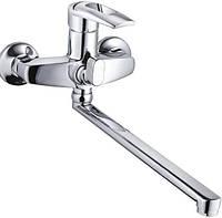 ZEGOR Z63-SWF7-A113 Смес ванна евро  длин плос гусак