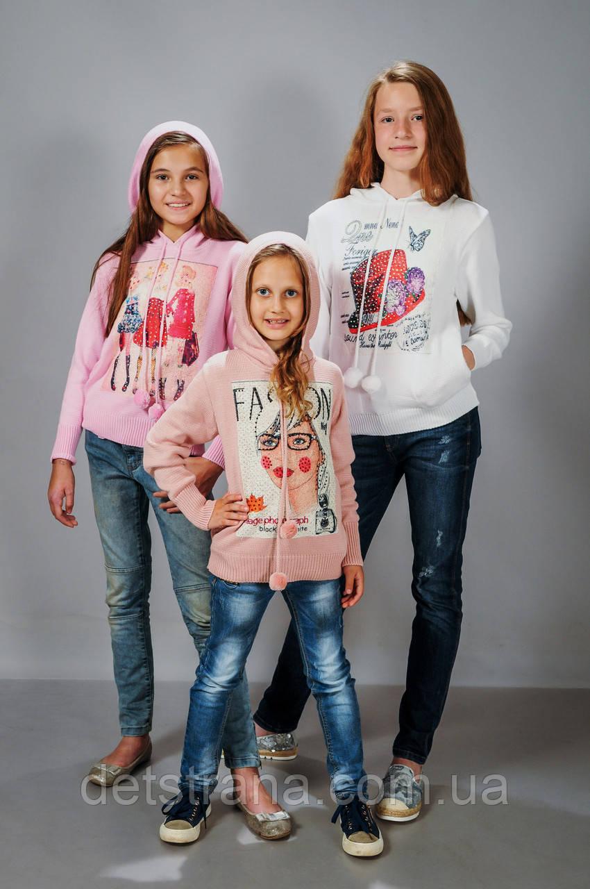 Детская вязаная кофта для девочки