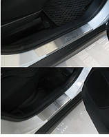 Накладки на пороги Mitsubishi ASX 2010- 4шт. premium