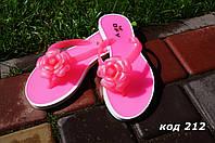 Вьетнамки силиконовые розовые цветок. Польша