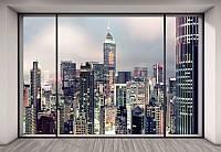 Фотообои флизелиновые на стену 368х254 см 8 листов: Вид на город. Komar 0NW-922