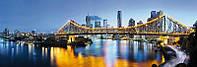 Фотообои флизелиновые на стену 368х124 см 2 листа: Ночной город Брисбен Бразилия. Komar XXL2-010