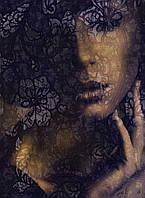 Фотообои флизелиновые на стену 184х248 см 2 листа: Девушка в кружеве. Komar XXL2-012