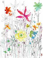 Фотообои флизелиновые на стену 184х248 см 2 листа: Цветы акварельные. Komar XXL2-022
