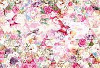 Фотообои флизелиновые на стену 368х248 см 4 листа: Цветочный калейдосткоп. Komar XXL4-019