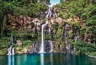 Фотообои флизелиновые на стену 368х248 см 4 листа: Каскадный водопад. Komar XXL4-026