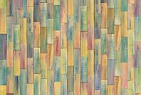 Фотообои флизелиновые на стену 368х248 см 4 листа: Цветные дощечки. Komar XXL4-028