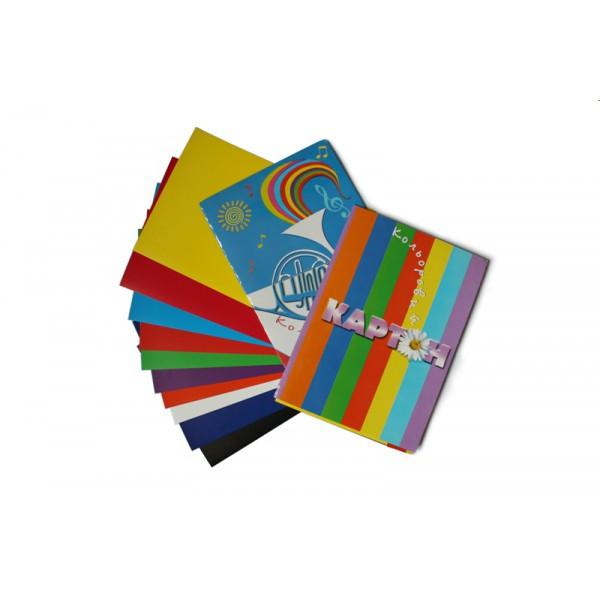 Картон цветной Бумвест 7В11 ф. А-4, 10 листов
