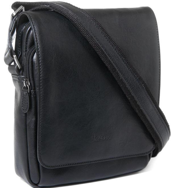 Кожаная мужская сумка через плечо Katana k39112-1, черный