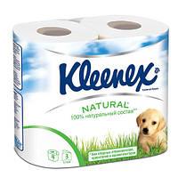 Бумага туалетная Клинекс 3-х слойная белая 4 шт в упаковке