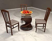 Стол гостиный Шедевр со стеклянной столешницей
