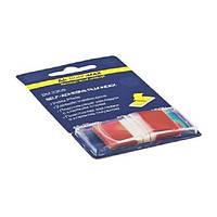 Закладки Buromax пластиковые 45x25мм 50 листов POP-UP NEON (красный)