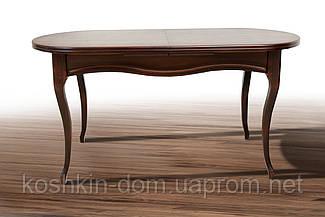Стол обеденный Оливер Ультра темный орех раскладной массив клена 150(+50)*85 см