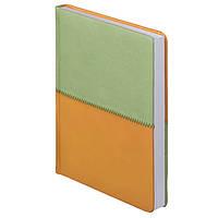 Ежедневник недатированный Quattro, салатовый с коричневым