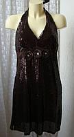 Платье блестящее коктейльное мини р.46-48 6957